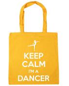 HippoWarehouse Keep Calm I'm a Dancer Tote Shopping Gym Beach Bag 42cm x38cm, 10 litres