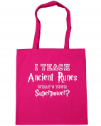 HippoWarehouse I Teach Ancient Runes, What's Your Superpower. Tote Shopping Gym Beach Bag 42cm x38cm, 10 litres