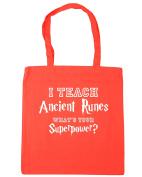 HippoWarehouse I Teach Ancient Runes, What's Your Superpower. Tote Shopping Gym Beach Bag 42cm x38cm, 10 litres