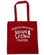 HippoWarehouse Worlds Greatest Wizard Chess Player Tote Shopping Gym Beach Bag 42cm x38cm, 10 litres