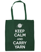 HippoWarehouse Keep Calm and Carry Yarn Tote Shopping Gym Beach Bag 42cm x38cm, 10 litres