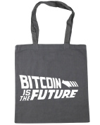 HippoWarehouse Bitcoin is the Future Tote Shopping Gym Beach Bag 42cm x38cm, 10 litres