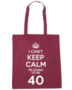 HippoWarehouse I Can't Keep Calm I'm Going to be 40 Tote Shopping Gym Beach Bag 42cm x38cm, 10 litres
