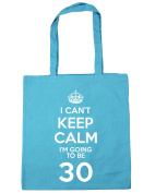 HippoWarehouse I Can't Keep Calm I'm Going to be 30 Tote Shopping Gym Beach Bag 42cm x38cm, 10 litres