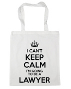HippoWarehouse I Can't Keep Calm I'm Going to be a Lawyer Tote Shopping Gym Beach Bag 42cm x38cm, 10 litres