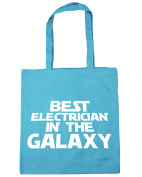 HippoWarehouse Best Electrician in the Galaxy Tote Shopping Gym Beach Bag 42cm x38cm, 10 litres