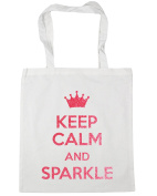 HippoWarehouse Keep Calm and Sparkle Tote Shopping Gym Beach Bag 42cm x38cm, 10 litres