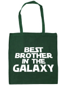 HippoWarehouse Best Brother in the Galaxy Tote Shopping Gym Beach Bag 42cm x38cm, 10 litres