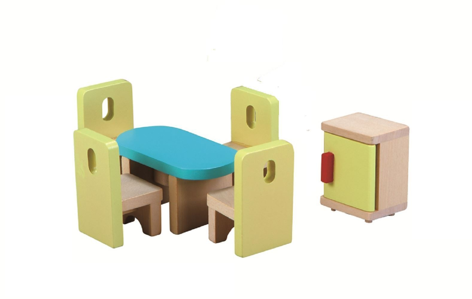 Lelin Wooden Kitchen & Dining Room Playset Childrens Pretend ...