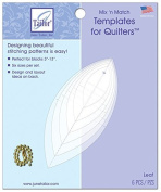 Mix'n Match Templates For Quilters 6/Pkg-Leaf by June Tailor