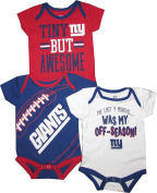 "New York Giants ""Game Day"" Baby / Infant 3 Piece Creeper Set"