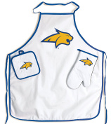 Montana State Bobcats NCAA Barbeque Tailgate Set with Apron & Potholder & Glove