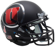 NCAA Utah Utes Matte Black Mini Helmet, One Size, White