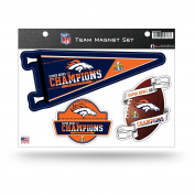 NFL Denver Broncos super Bowl 50 Champions Team Magnet Set,22cm by 28cm ,Blue