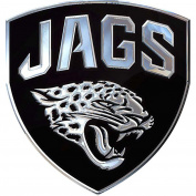 NFL Jacksonville Jaguars Premium Chrome Metal Auto Emblem / 2 1/2 X 3 / Chrome / NFL