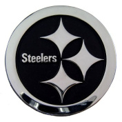 Pittsburgh Steelers NFL Silver Auto Emblem
