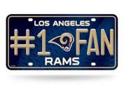Los Angeles Rams #1 Fan Metal Licence Plate
