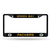 Green Bay Packers Black Metal Licence Plate Frame