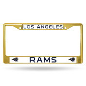 NFL Los Angeles Rams Coloured Chrome Plate Frame, Gold