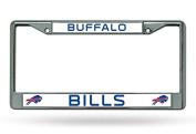 NFL Buffalo Bills Chrome Plate Frame,30cm by 15cm ,Silver