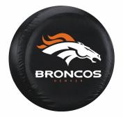 Denver Broncos Black Tyre Cover - Size Large