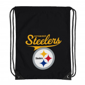 NFL Pittsburgh Steelers Team Spirit Backsack, Black, 46cm x 34cm