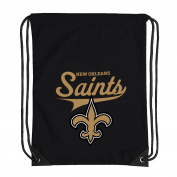 NFL New Orleans Saints Team Spirit Backsack, Black, 46cm x 34cm