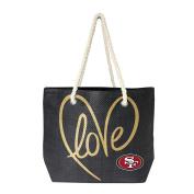 NFL San Francisco 49Ers Women's Rope Tote, Black, Gold, 50cm x 36cm 15cm