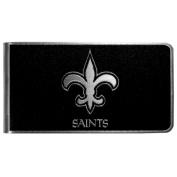 NFL New Orleans Saints Black & Steel Money Clip