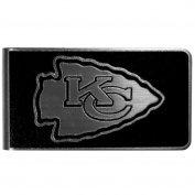 NFL Kansas City Chiefs Black & Steel Money Clip