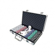 Lion Games & Gifts Europe Aluminium Case With 300 X 11.5g Chips/ 2 Decks And 5 Di