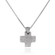 Gioiello Italiano in 18 kt white gold necklace Paved with Crystals White