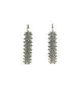 Sterling Silver Honeycomb Earrings - Two Rows