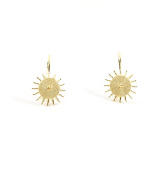 18ct Gold Filigree Corbula Sun Earrings