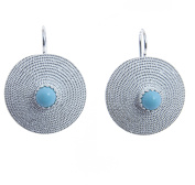 Sterling Silver Corbula Earrings with Turquoise