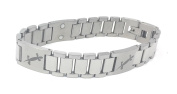 Mens Magnetic Stainless Steel and Titanium Bracelet Gift Boxed