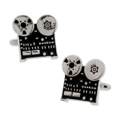 Old Reel to Reel Sound Vintage Audio Projector Cufflinks Cuff Links