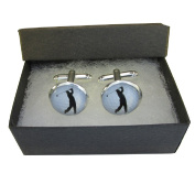 Handmade Sports Inspired - Golf - Mens Silver Plated Cufflinks - Gift Boxed