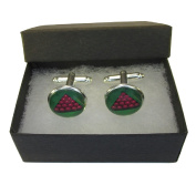 Handmade Sports Inspired - Snooker - Mens Silver Plated Cufflinks - Gift Boxed