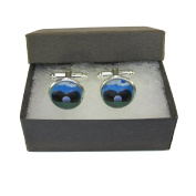 Handmade Sports Inspired - Lawn Bowls - Mens Silver Plated Cufflinks - Gift Boxed
