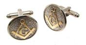 Mens Jewellery Masonic Cufflinks in Wooden Box