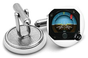 The attitude indicator Mens Cufflinks - supplied in gift pouch PRINTED IMAGE