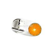 Orange Slice Cufflinks Orange Cuff link Fruits Cufflinks For Women round Cufflinks