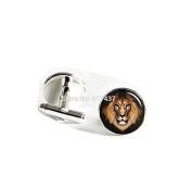Male lion Cufflinks Male lion Cuff links Glass Lion Jewellery Men Cufflinks