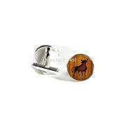 Wood Background Cufflinks Bull Cuff link Vintage Cufflinks For Mens Glass cufflinks