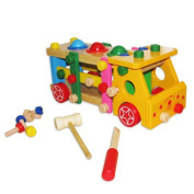 Multicolor Take Apart Toy Truck with Tools - Multifunctional Building Toy Truck Activity Set Includes Assorted Truck Assembly Parts and Building Tools | Assembly Toy Bus Party Favour for Kids