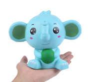 Aolige Jumbo Squishy Blue Elephant Kawaii Cream Scented Very Slow Rising Decompression Squeeze Toys