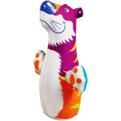 3D Bop Bag Pink Tiger - Inflatable Blow Up Punching Bag Toy,Gift, For Kids Fun