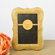 12 Gold Bling Glitter Frames
