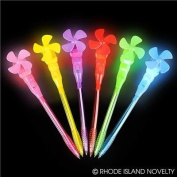 4 Light up Windmill Pens Fun Party Favour